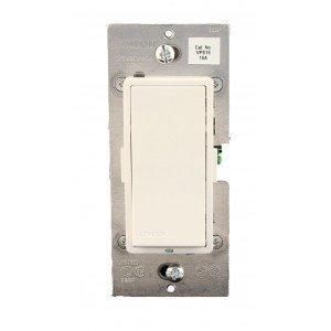 VPS15-1LZ Light Switch, 15A Vizia Switch, 3-Way - White, Ivory & Almond Faceplates Included-2PK