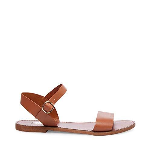 Steve Madden Women's Donddi Dress Sandal, Tan Leather, 7.5 M US (Best Leather Sandals Womens)