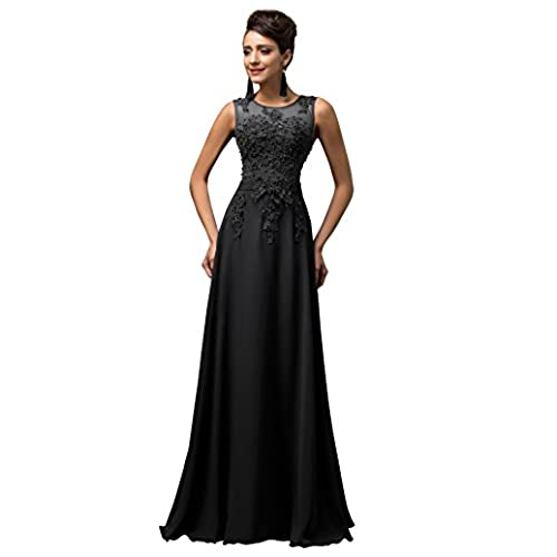 Black Long Prom Gown Backless Bridesmaid Evening Dresses,Black,18 Plus