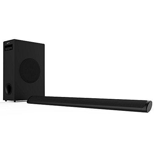 Sound Bar with Subwoofer, Meidong 2.1 Channel TV Soundbar System Bluetooth Wired and Wireless Home Theater(36.6 Inch/Bluetooth/OPT/RCA/AUX/Remote Control) (Woofer System)