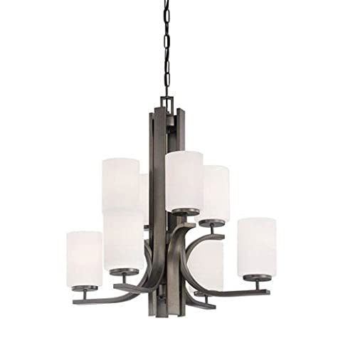 globe oil rubbed clear thomas shop industrial light glass bronze chandelier beckett pd lighting in