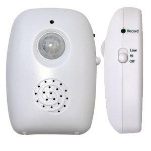 Master- Sensor de Presencia, Cuenta con Mensaje de Voz regrabable, graba hasta 15 Segundos de Voz, Muy Compacto es Ideal para...