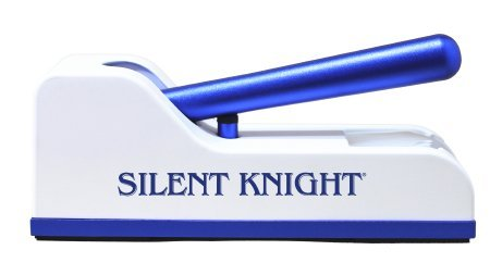 Silent Knight, Pill Crusher Hand Operated Push Down Mechanism Blue / White(1 Pack)