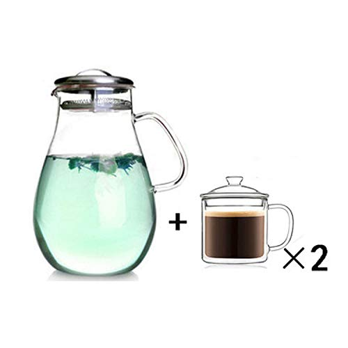 Explosion-Proof Large Capacity Teapot Hot And Cold Kettle High Temperature Glass Cold Kettle Heat,08 Set