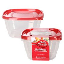 Betty Crocker 42.3-oz. Plastic Food Saver Storage Containers, 2-ct. Packs