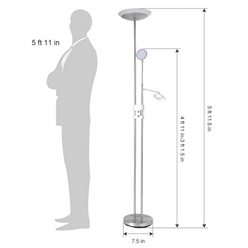 Finether-Touch-Activated-Aluminum-Task-LED-Floor-Lamp-Dimmable-Adjustable-Folding-Ultra-Slim-with-4-Brightness-Levels