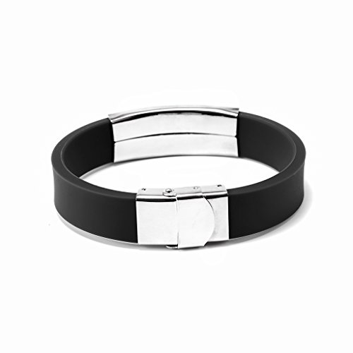to My Son Never Forget That I Love You Boys Bracelet Jewelry Gift Idea from Dad and Mom (Black) by Freedom Love Gift (Image #3)