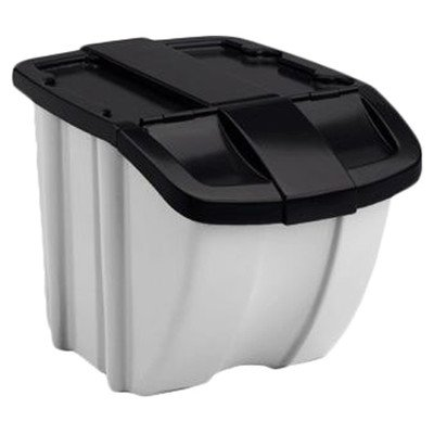 Curbside Recycling Bin (18 Gallon Storage Trends Industrial Recycling Bin [Set of)