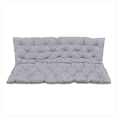 "HomyDelight Chair & Sofa Cushion, Gray Cushion for Swing Chair 59"""