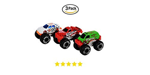 3 Monster Truck Cake Topper Toys. Boy Kids Monster Truck Play Toy. Toddler play Car -