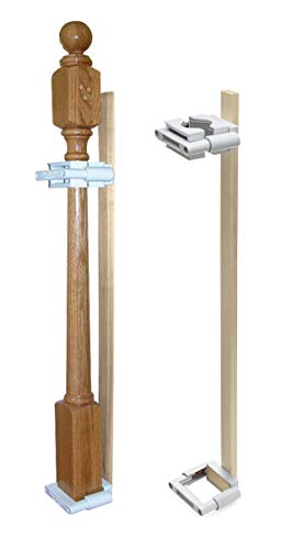 Safety Innovations No Hole Stairway Baby Gate Mounting Kit - Avoid Drilling Holes In Your Stairway Posts