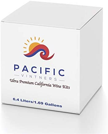 PACIFIC VINTNERS Ultra Premium California Wine Kit-Cabernet Sauvignon-6.4L/1.7Gal Makes 30 Bottles