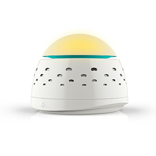 Tiabo White Noise Machine All Natural Sound Machine With Night Light Natural Sleep Assist -Adjustable Sound and Perfectly Glow Night Light for Sleep, Relaxation or Concentration.