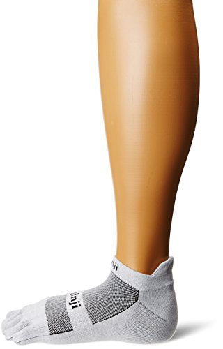 Injinji - Calcetines de running ligeros y ultracortos con dedos Gray