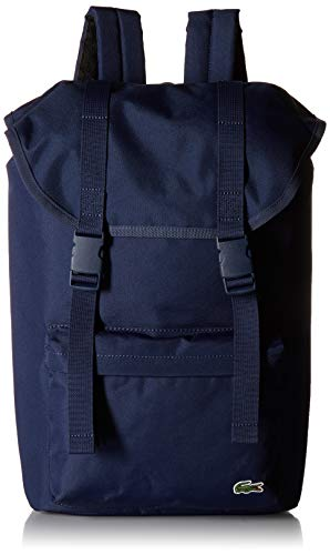Lacoste Men's Neocroc Flap Backpack, Peacoat, 00 by Lacoste