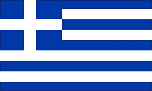 - 5in x 3in Greece Greek Flag Sticker