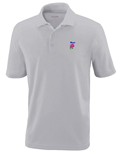 Vermont State Flower Embroidery Performance Polo Shirt Golf Shirt - Platinum, X Small