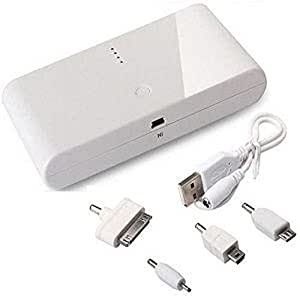 20000 MAH EXTERNAL POWER BANK BATTERY CHARGER FOR MOBILE SMARTPHONES DIGITAL CAMERA (WHITE)