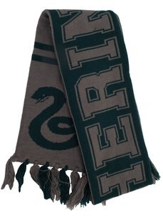 elope Harry Potter Hogwarts House Reversible Knit Scarf, Slytherin