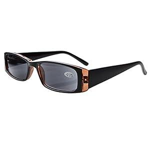 Eyekepper Spring Hinges Rectangular Reading Sunglasses Sun Readers +1.5