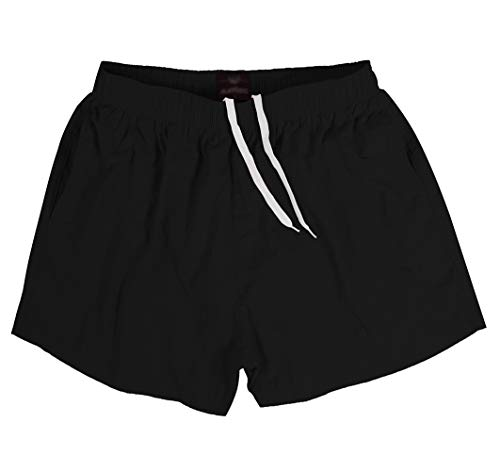 SUNDAY ROSE Sundayrose Men's Running Shorts Quick Dry Gym Training Shorts with Pockets (Small, Black)