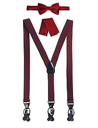 Gioberti - Conjunto de colgantes convertibles para hombre, corbata de fila y gorro