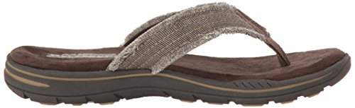 Skechers Arven Evented Marrone Aperta a Sandali Uomo Punta Chocolate rgrxCq5vw