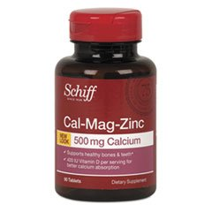 Schiff guidée minérale Cal-Mag-Zinc avec de la vitamine D - 90 comprimés