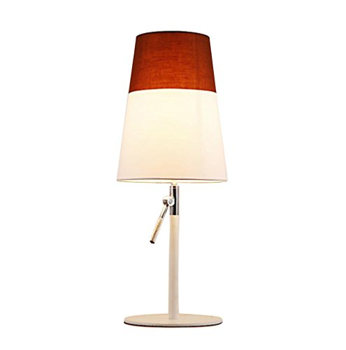 GL&G Modern Adjustable High Protection Eye Lamp Bedroom Study Reading Lighting Creative Fashion Bedside Lamp (Push Button Switch),Coffee,2360CM by GAOLIGUO (Image #7)