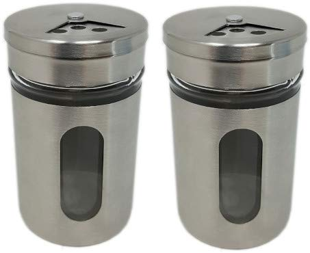 Stainless Steel Glass Spice Jar Bottles - Multiple sets 3.14