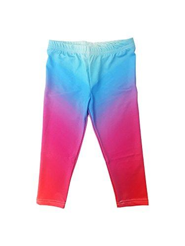Stella Blu Clothing Big Girls Rainbow Fade Leggings  8  Multi
