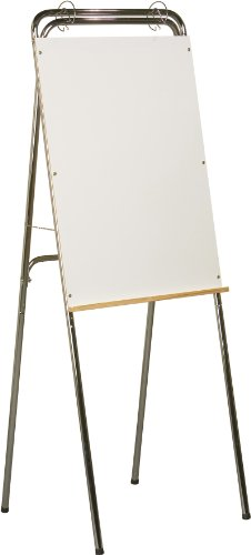 Best-Rite Ideal Floor Standing and Table Top Dry Erase Whiteboard Easel, Chrome Frame, ()