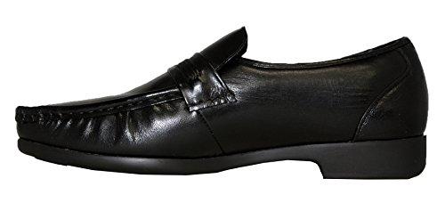 Vikings Heren Zwarte Lederen Schoenen # 1993-01