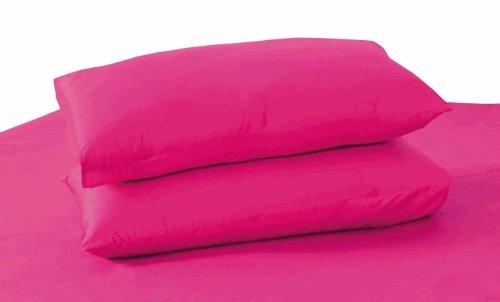 (Tache 100% Cotton 2 Piece Queen Size Hot Pink Pillowcase, 20 x 30 Inch)