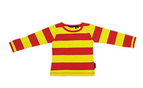 Price comparison product image MARIMEKKO Toddler Girl's Peppina Yellow Striped Long Sleeve Shirt 12M 18M NEW