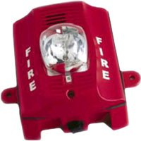 FIRE-LITE ALARMS System Sensor P2RK Red Two-Wire, Outdoor Horn Strobe