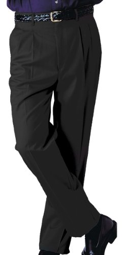 Edwards Garment ED Garments Men's Tall Business Casual Chino Pleated Pant, Black, 28 28 (Front Pleated Chino)