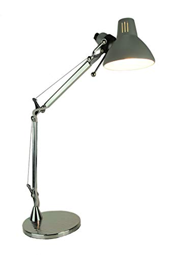 Chrome Finish Adjustable Arm Metal Desk Lamp
