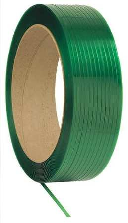Plastic Strapping, HG, Green, 9600 ft. L