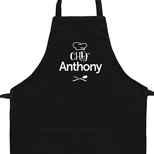 Eddany Chef Anthony barbecue utensils Embroidery Custom Aprons Adult or Kid