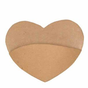 Factory Direct Craft Unfinished Paper Mache Hearts with Pocket for Crafting and Decorating - 4 Hearts ()