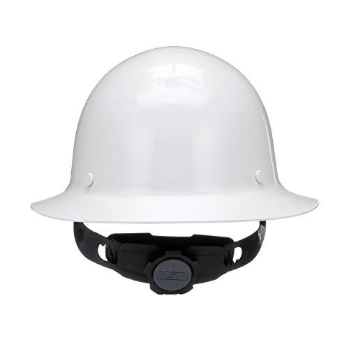 MSA 475408 Skullgard Protective Hard Hat Full Brim, Fas-Trac III Suspension, Standard Size, White by MSA (Image #1)