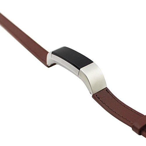 Peanutcool Double Tour Leather Watch Band Strap Bracelet For Fitbit Alta HR (Brown) by Peanutcool (Image #1)