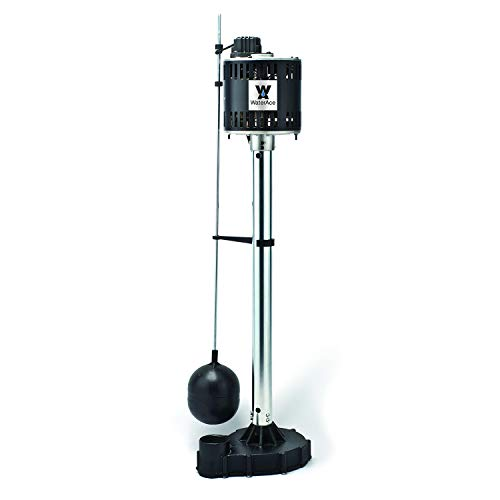 (WaterAce WA50CPED Pedestal Pump, Black)