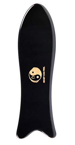 BEST Gua Sha Scraping Massage Tool - Highest Quality Hand Made Buffalo Horn Guasha Board -Reduce Neck and Muscle Pain and Improve Mobility [fish shape]