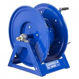 Large Capacity Bevel Geared Hand Crank Welding Cable Reel for arc welding: holds up to 300' of #2 cable (Large Capacity Welding Reel)