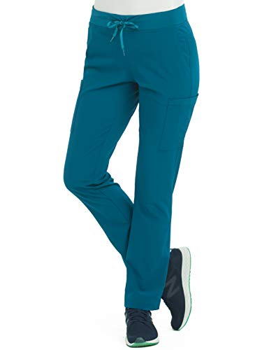 (Med Couture Air Women's Yoga 2 Cargo Scrub Pant Caribbean/Turquoise)