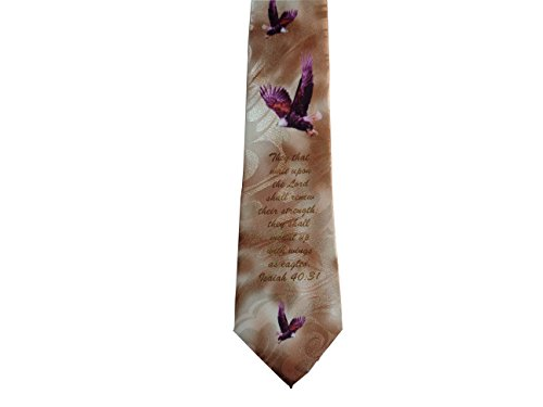 Gospitality Mens Wings As Eagles Christian Necktie One Size (Necktie Bible)