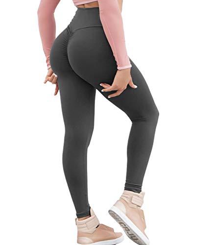 KIWI RATA Women Scrunch Butt Yoga Pants Leggings High Waist Waistband Workout Sport Fitness Gym Tights Push Up (Vs Gym Pants)