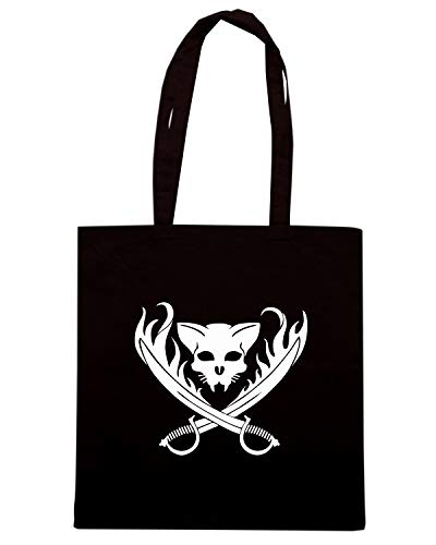 64359 CAT DIECUT Borsa SKULL Shopper FUN0959 PIRATE Nera twwqBOxF